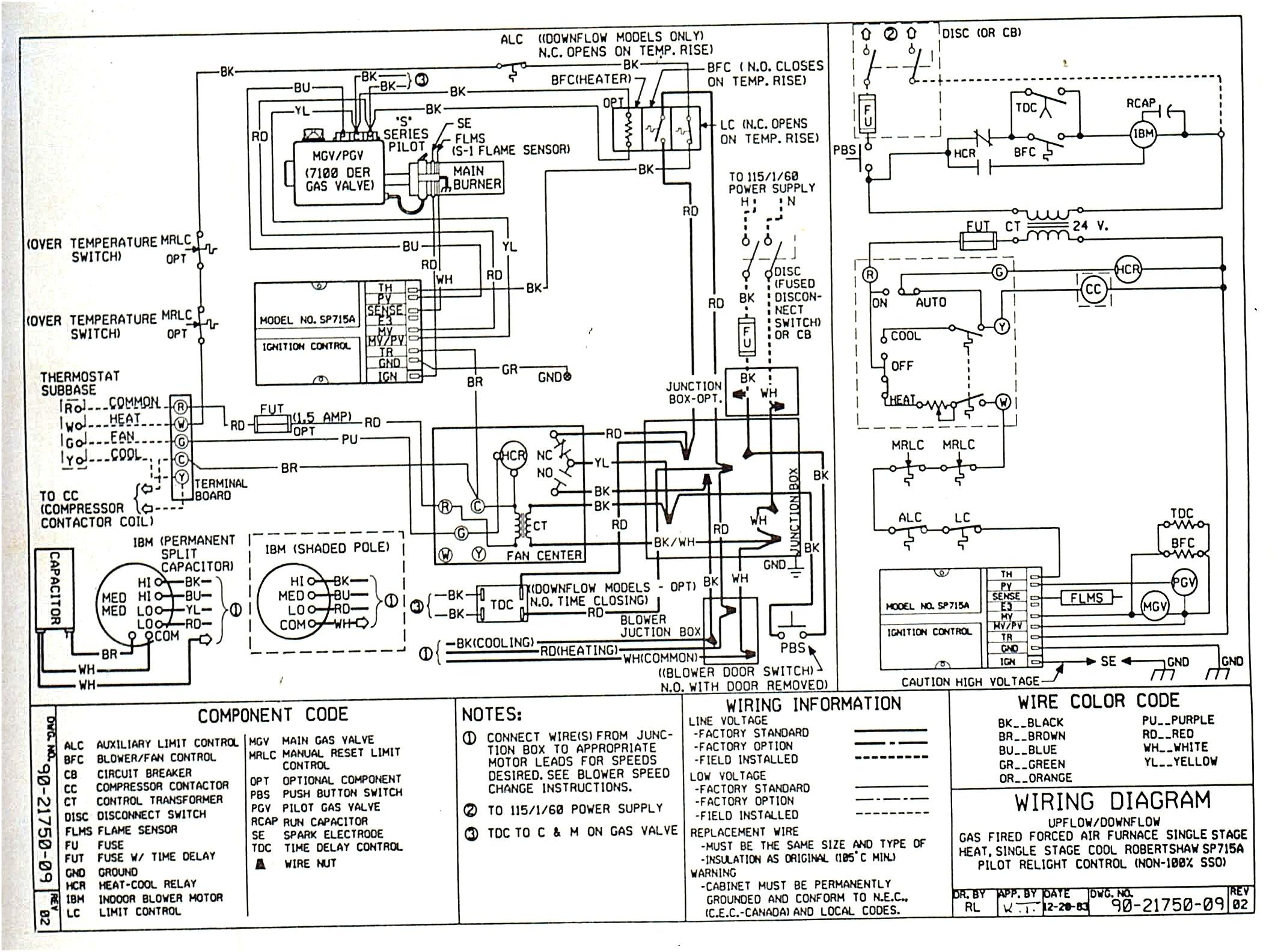 tempstar heat pump wiring diagram