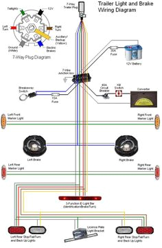 46 best trailer wiring diagram images in 2019 trailer buildnew 7 pin wiring diagram unique electric