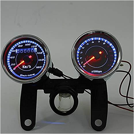amazon com iztoss universal led motorcycle tachometer odometer speedometer gauge automotive