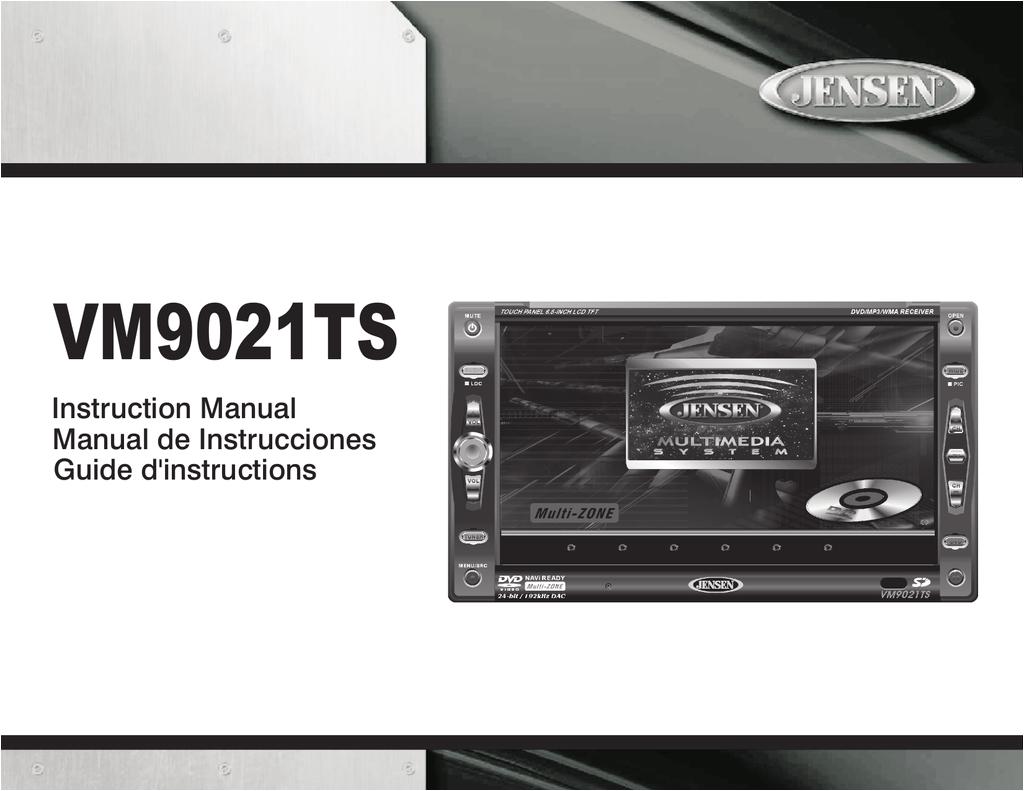 instruction manual jensen vm9021ts car stereo system user manual