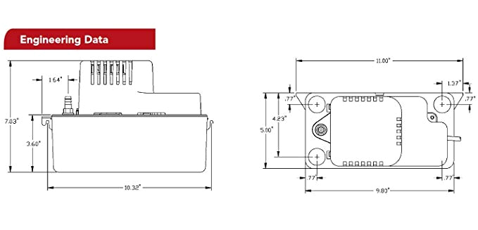 Vcma 20uls Wiring Diagram Little Giant 554435 Vcma 20ulst 115 Condensate Removal Pump 115v