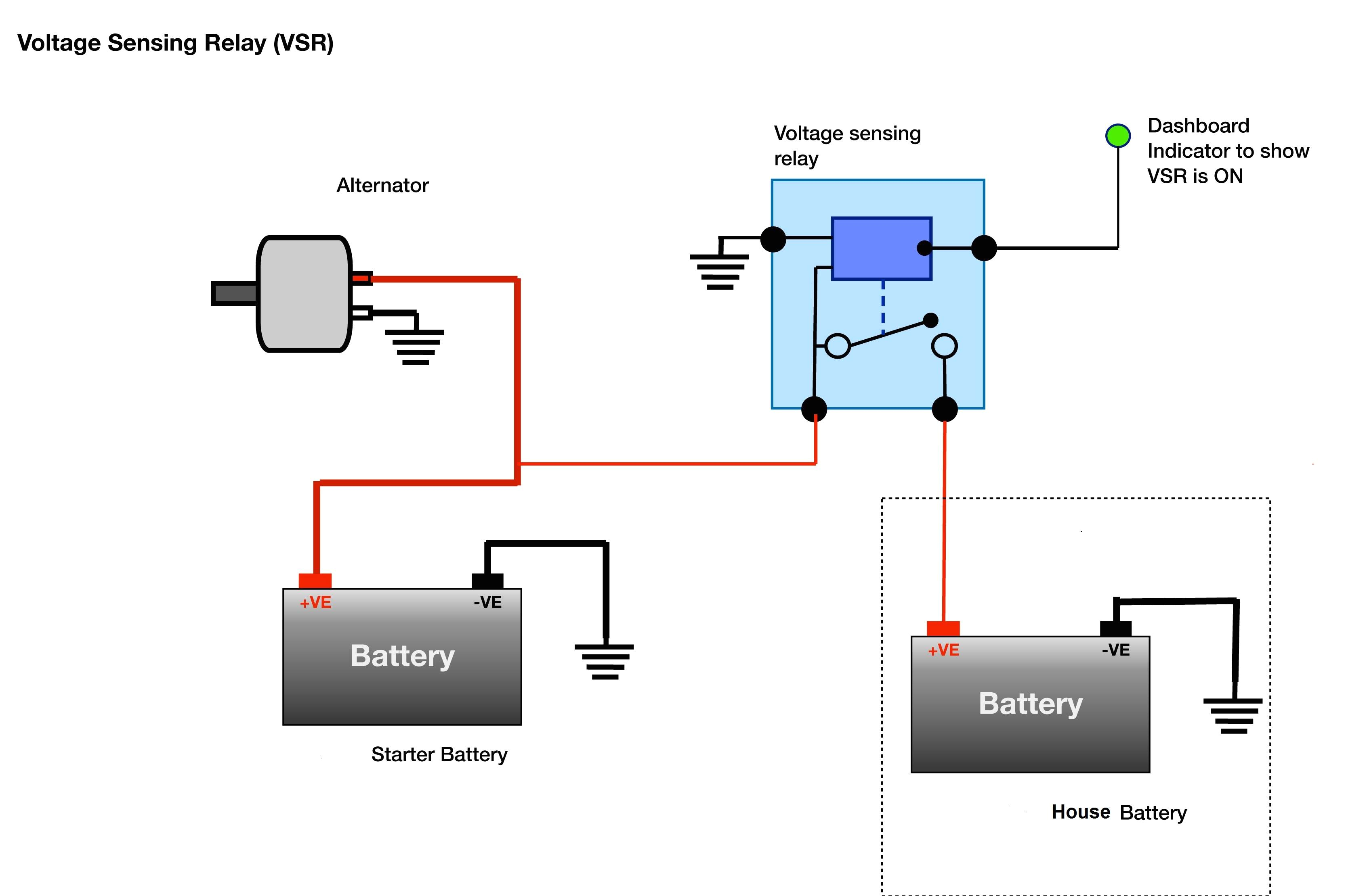 Voltage Sensitive Relay Wiring Diagram Second Vsr Sailing forums Page 1