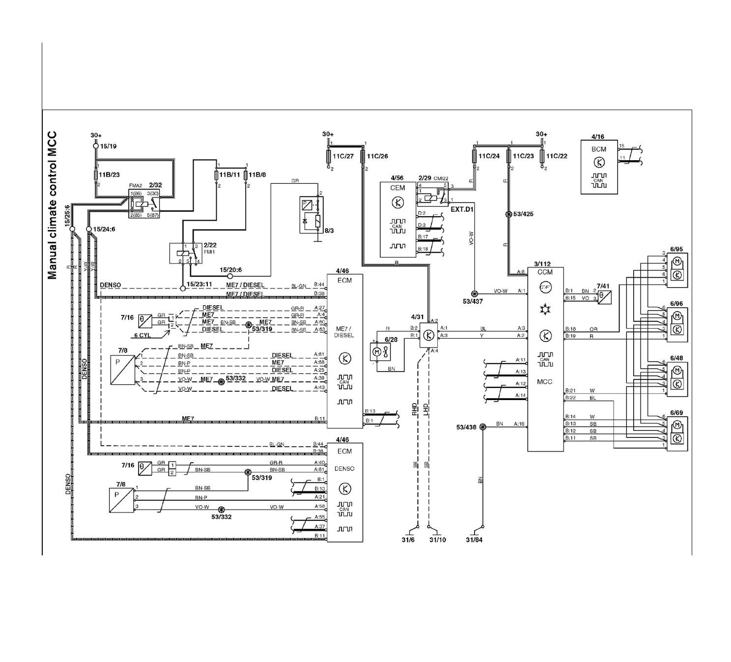 volvo s60 wiring diagram inspirational volvo s60 wiring diagrams plete wiring diagrams