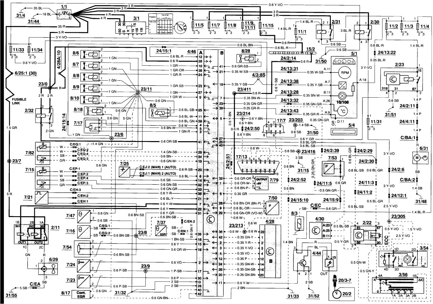 volvo wiring schematic wiring diagram expertspark wiring 1994 volvo wiring diagram mega volvo wiring diagram 850