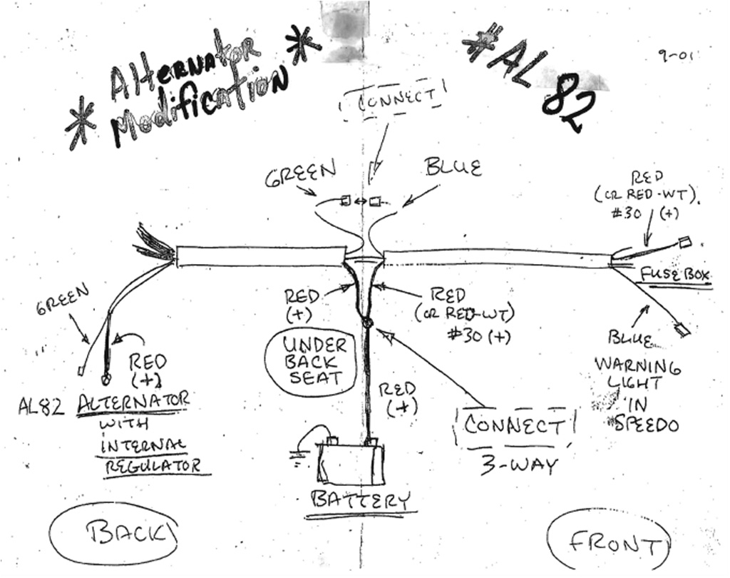 vw alternator diagram wiring diagram show vw alternator conversion wiring guide