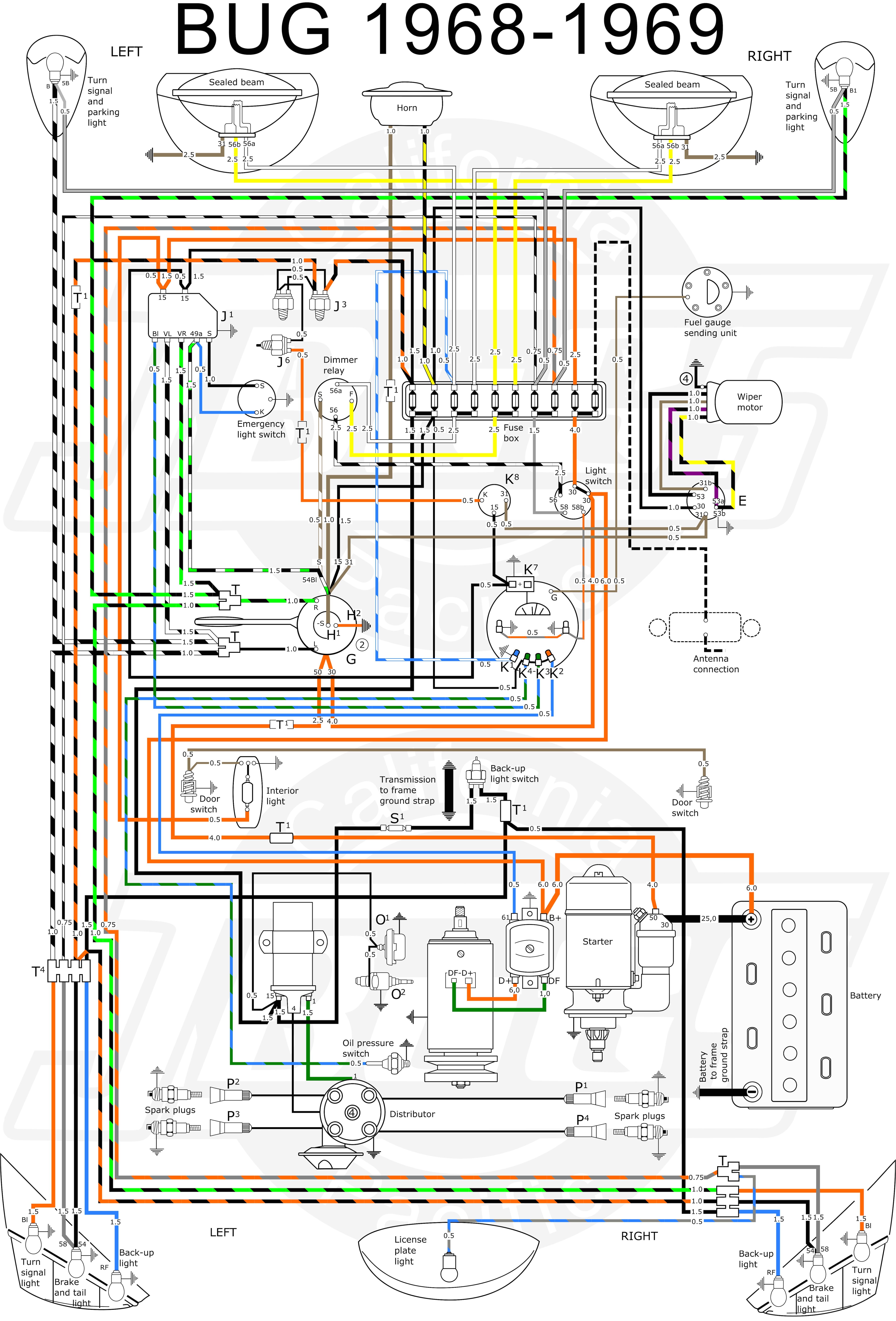69 vw wiring diagram