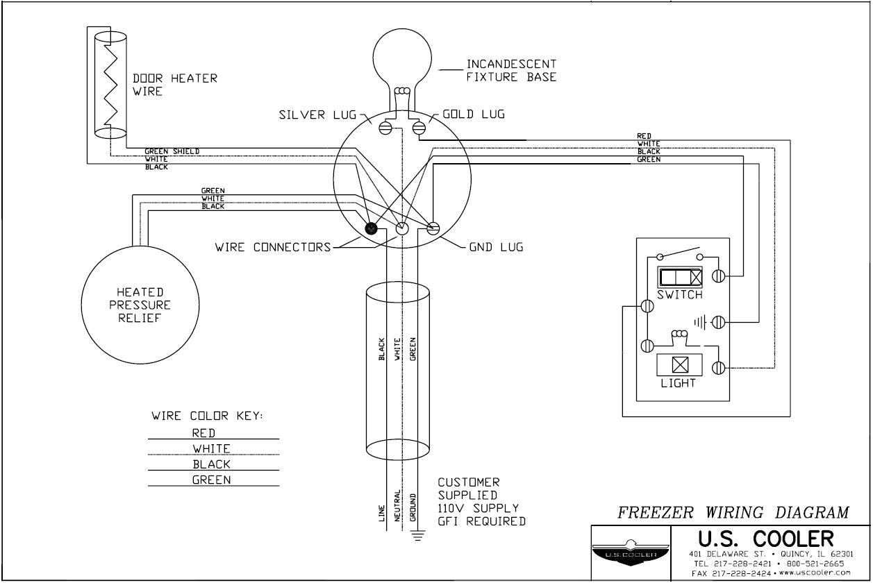 walk in freezer defrost timer wiring diagram a technical design drawings u s cooler