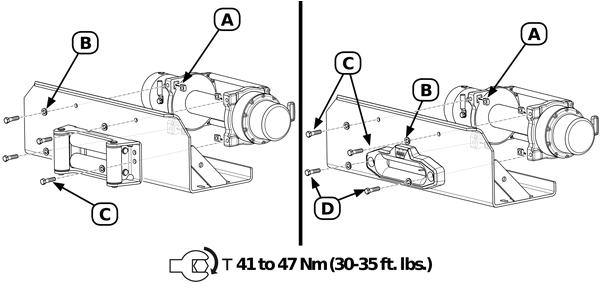 m8000 installation and manual warn m8000 foot forward winch installation