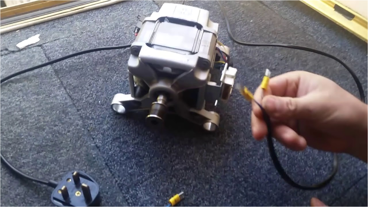 how to wire a washing machine motor