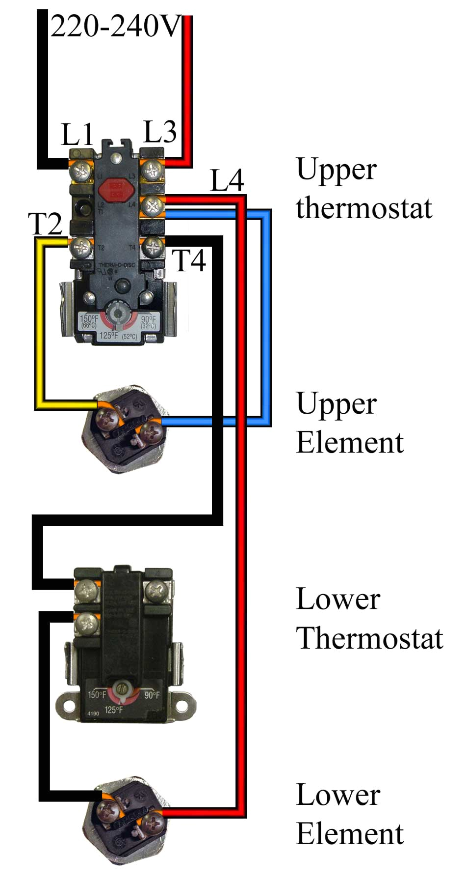 water heater heat control wiring diagram wiring diagram option dx cooling and heating hot water on wiring rheem water heater