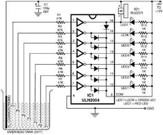 various circuits design this electronic project circuit diagram design is a very simple water level indicator circuit p
