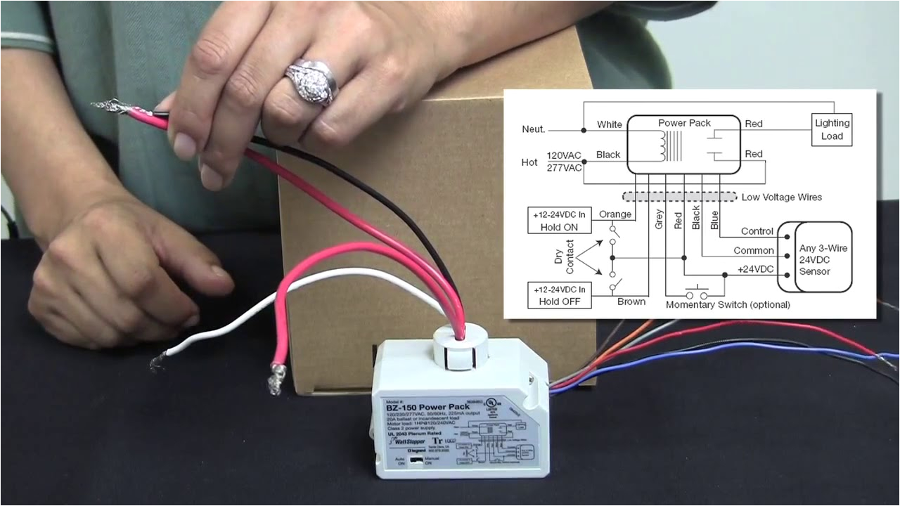 wattstopper how to wire a bz 150 universal voltage power pack youtube watt stopper dimming wiring diagram