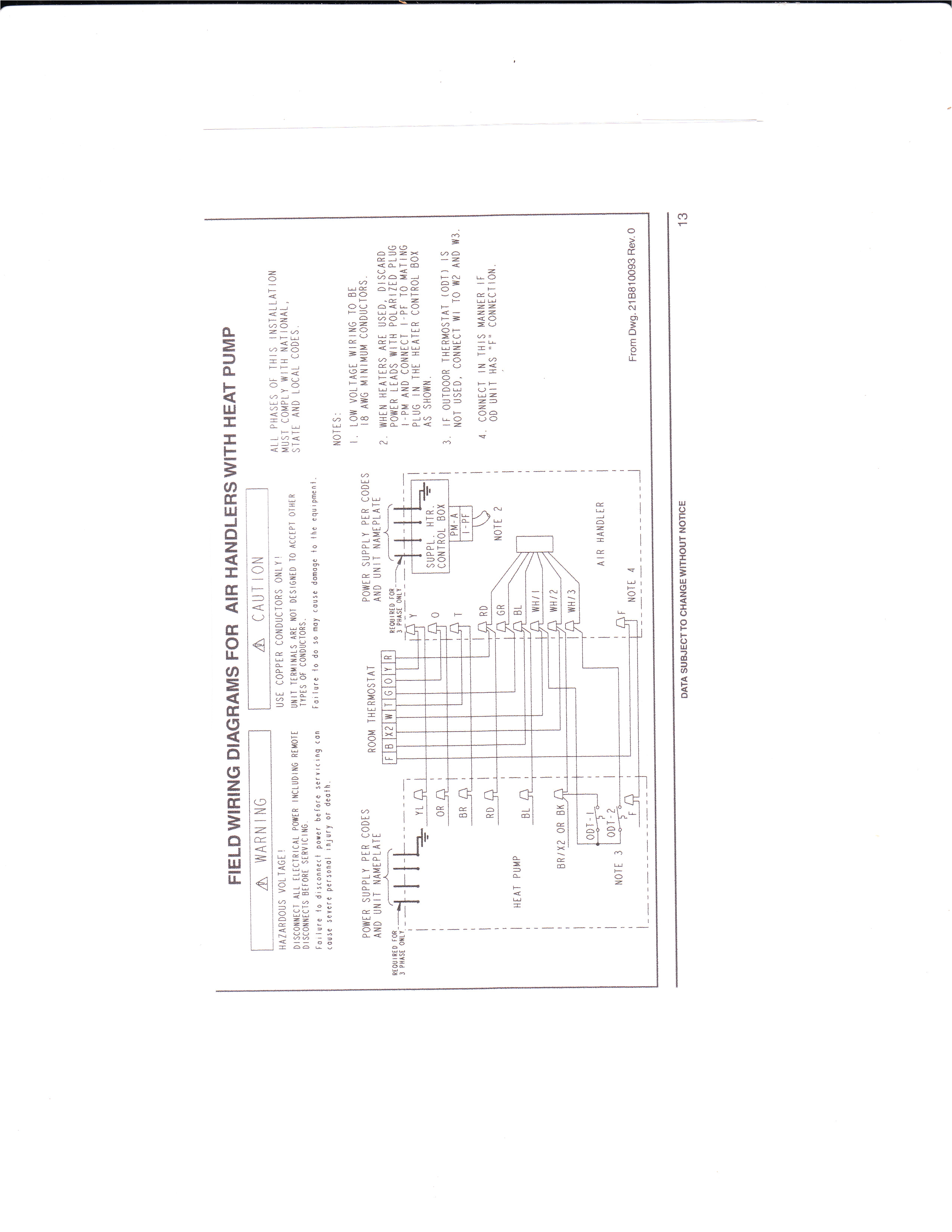 Weathertron thermostat Wiring Diagram I Have A Train that Has A Trane Weathertron thermostat It Has the