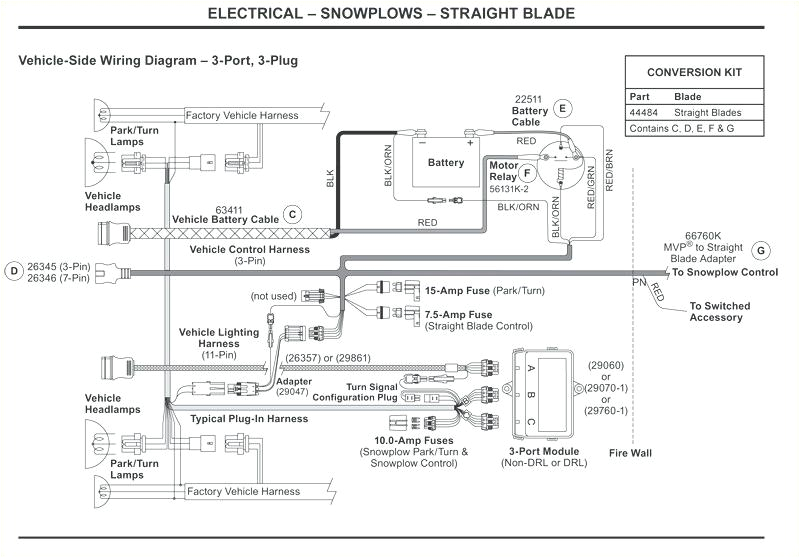 boss wiring harness diagram for western snow plow fresh v pin