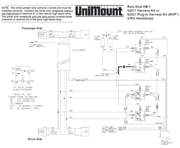 9 pin truck wiring diagram wiring diagram viewwestern unimount 9 pin wiring harness diagram my wiring