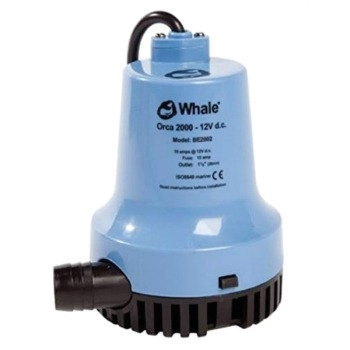 whale orca submersible electric bilge pump 2000 gpg 12v
