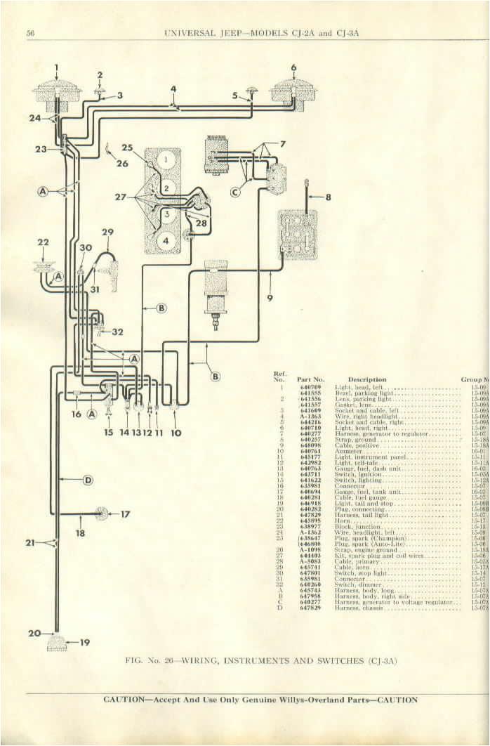 cj 3a wiring diagram cj3a wiring diagram