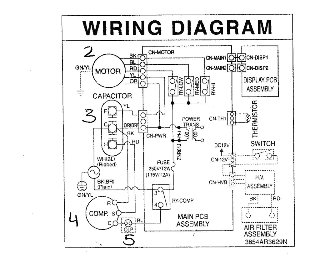 general air conditioner wiring diagram wiring diagram show general ac wiring diagram