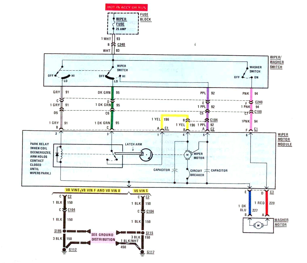 wrg 9829 1986 chevy wiper wiring diagram 1986 gmc wiper wiring