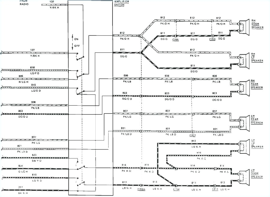 Wire Diagram for Car Stereo Lincoln Mark Viii Stereo Wiring Diagram Wiring Diagram Article