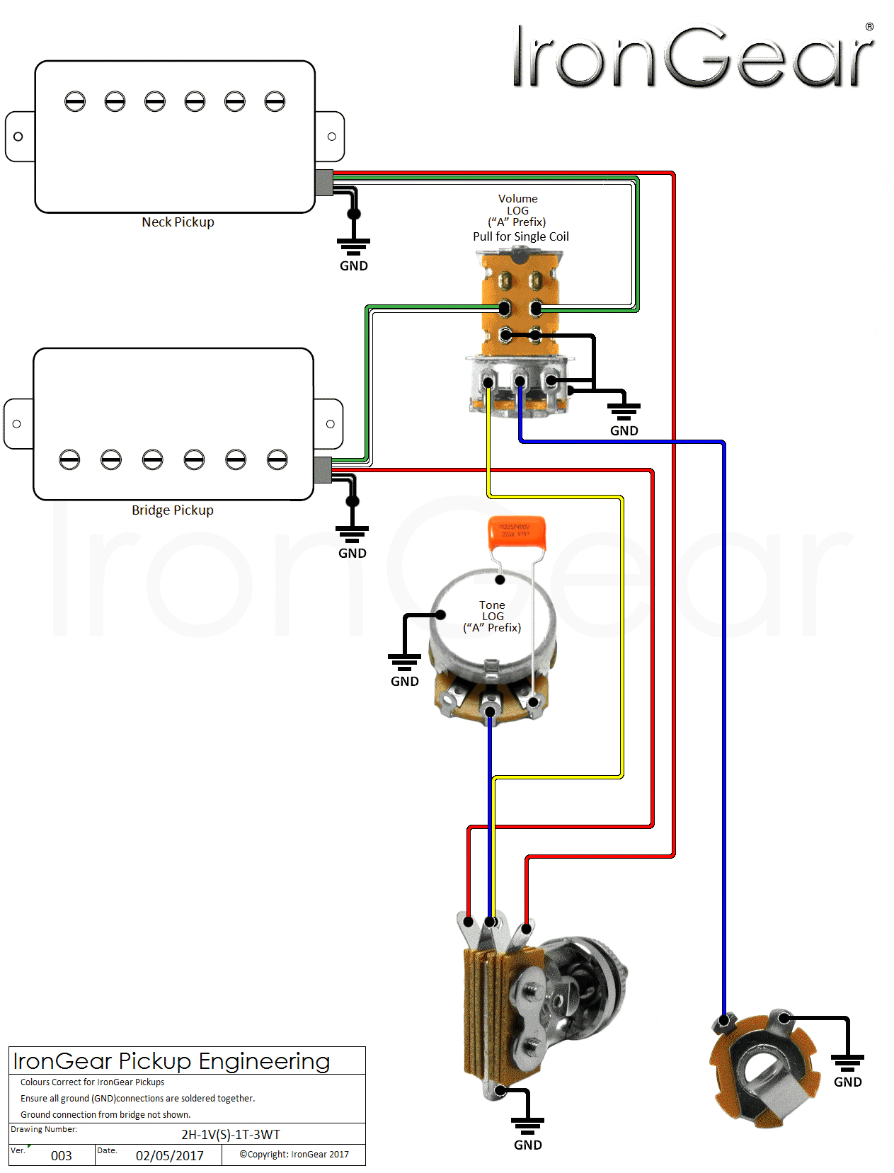 Wiring Diagram for 2 3 Way Switches 2 Humbucker 3 Way Switch Wiring Diagram Wiring Diagram Centre