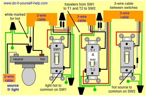 4 wire switch diagram wiring diagram expert 4 wire light switch diagram 4 wire switch diagram