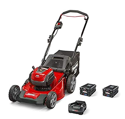 amazon com snapper xd 82v max electric cordless 21 inch lawnmower kit with 2 2 0 batteries 1 rapid charger 1687884 sxdwm82k garden outdoor