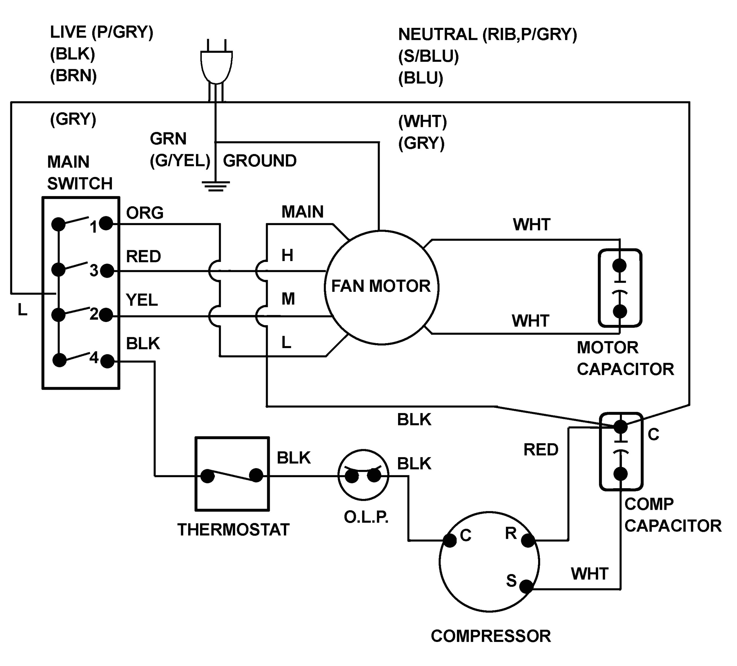 Wiring Diagram for Capacitor Thread A C Fan Motor Capacitor Wiring Wiring Diagram Val