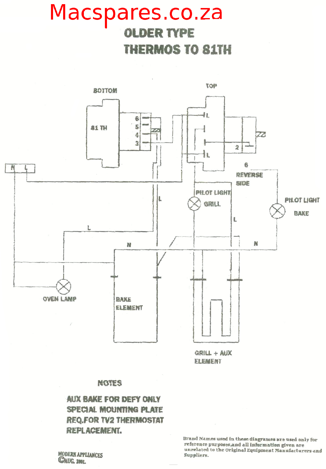 Wiring Diagram for Electric Oven and Hob Wiring Diagrams Stoves Switches and thermostats Macspares