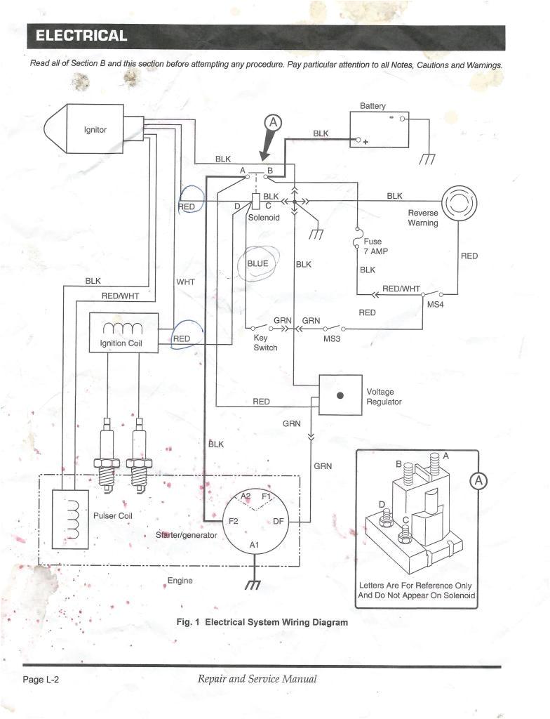 Wiring Diagram for Ez Go Golf Cart Electric 2001 Ez Go Wiring Diagram Wiring Diagram View