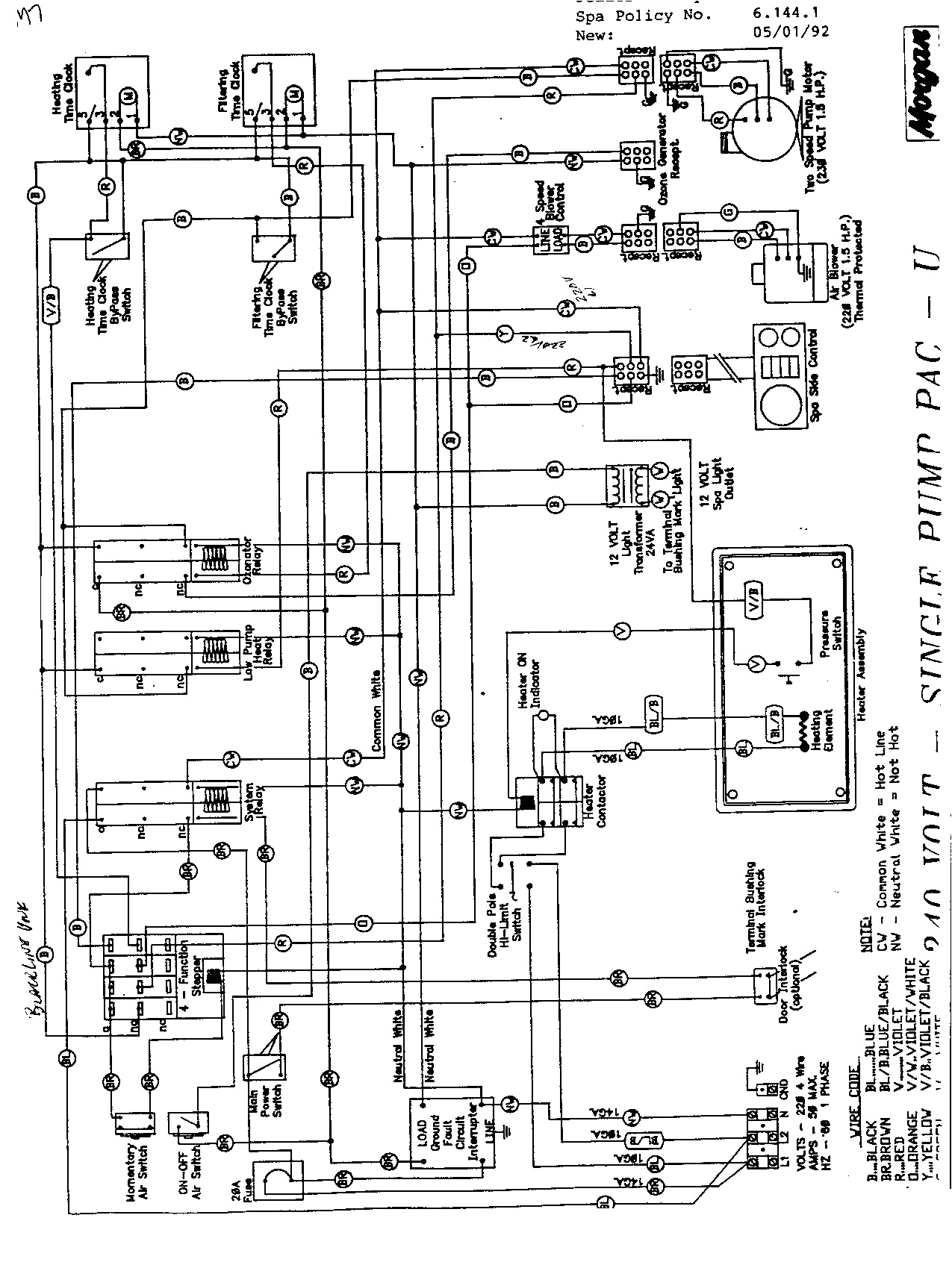 Wiring Diagram for Hot Tub 1985 Morgan Wiring Diagram Schematic Wiring Diagram Host