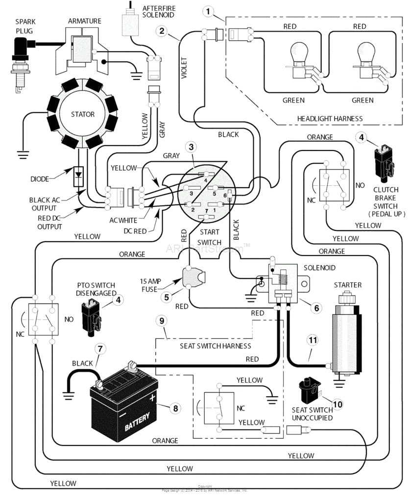 Wiring Diagram for Huskee Lawn Tractor Huskee Lt 4200 Wiring Diagram Wiring Diagram Go
