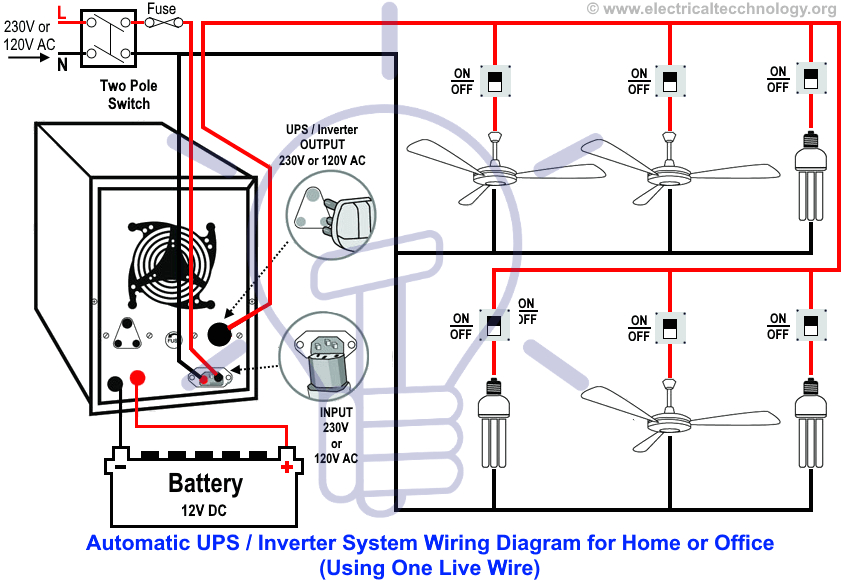 automatic ups inverter wiring connection diagram to the home inverter wiring diagram inverter wire diagram