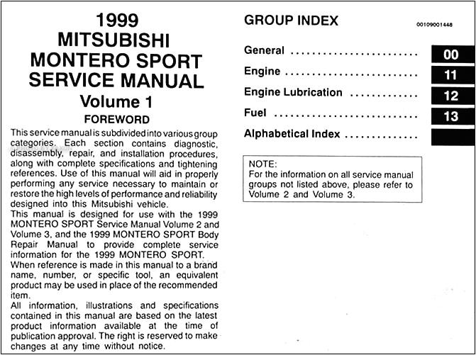 1999 mitsubishi montero sport repair shop manual set original 1999 mitsubishi montero sport wiring diagram 1999