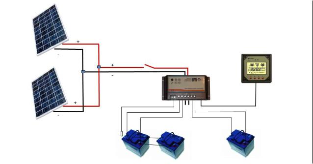 wiring a marine solar system wiring diagram for solar panel to battery on solar panel battery bank