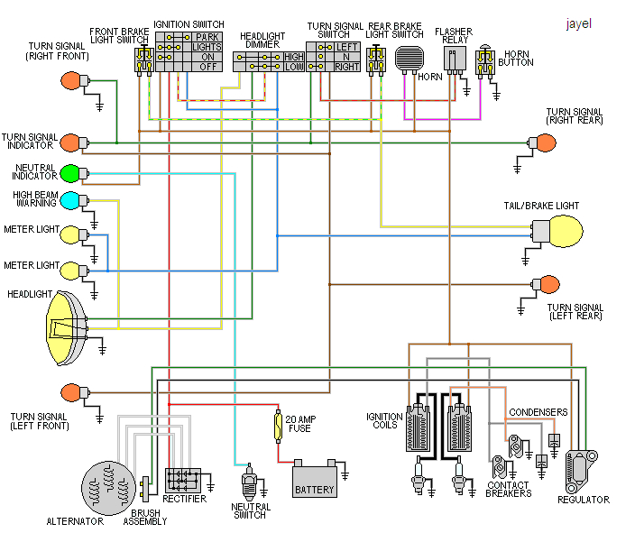 some wiring diagrams yamaha xs650 forum70xs1 71xs1b