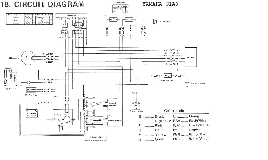 Yamaha G16 Golf Cart Wiring Diagram Yamaha G19e Wiring Diagram Wiring Diagram Centre