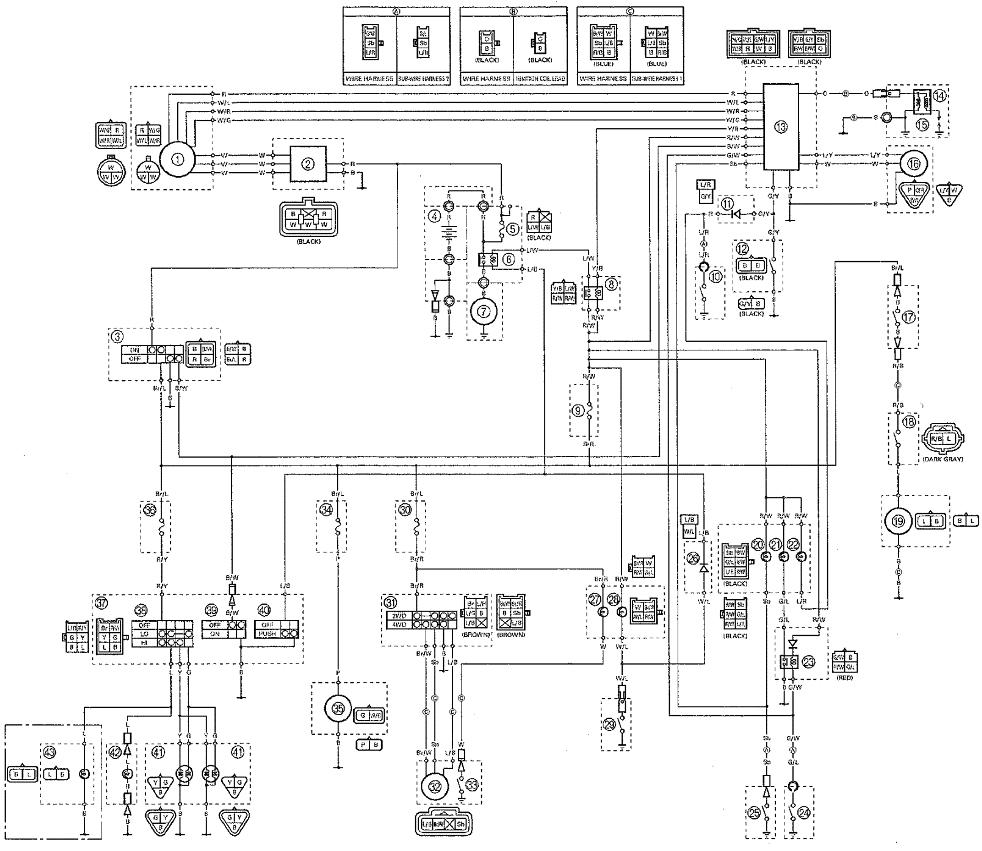kodiak yfm400fwa atv 4wd wiring diagrams weeks motorycle2000 yamaha yfm400 yfm400fwa kodiak wiring diagram