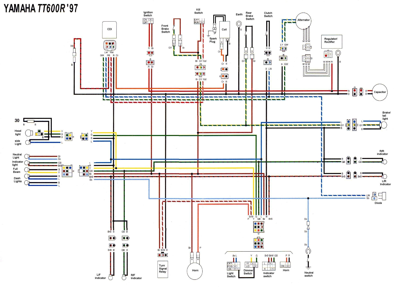 Yamaha Ttr 125 Wiring Diagram Yamaha Tt 600 Wiring Diagram Wiring Diagram Operations