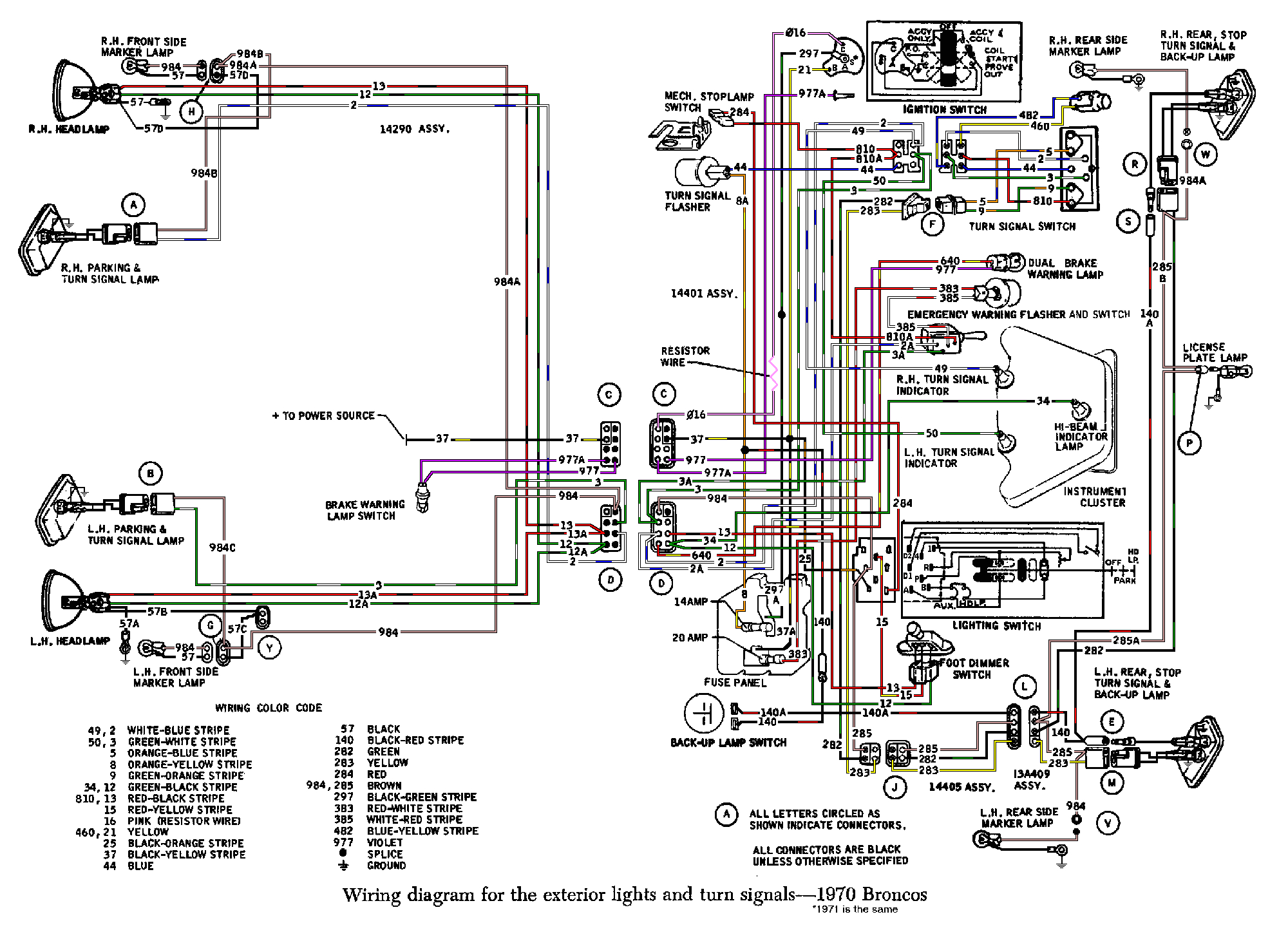 bronco com technical reference wiring diagrams 70 bronco wiring diagram source 69 ford