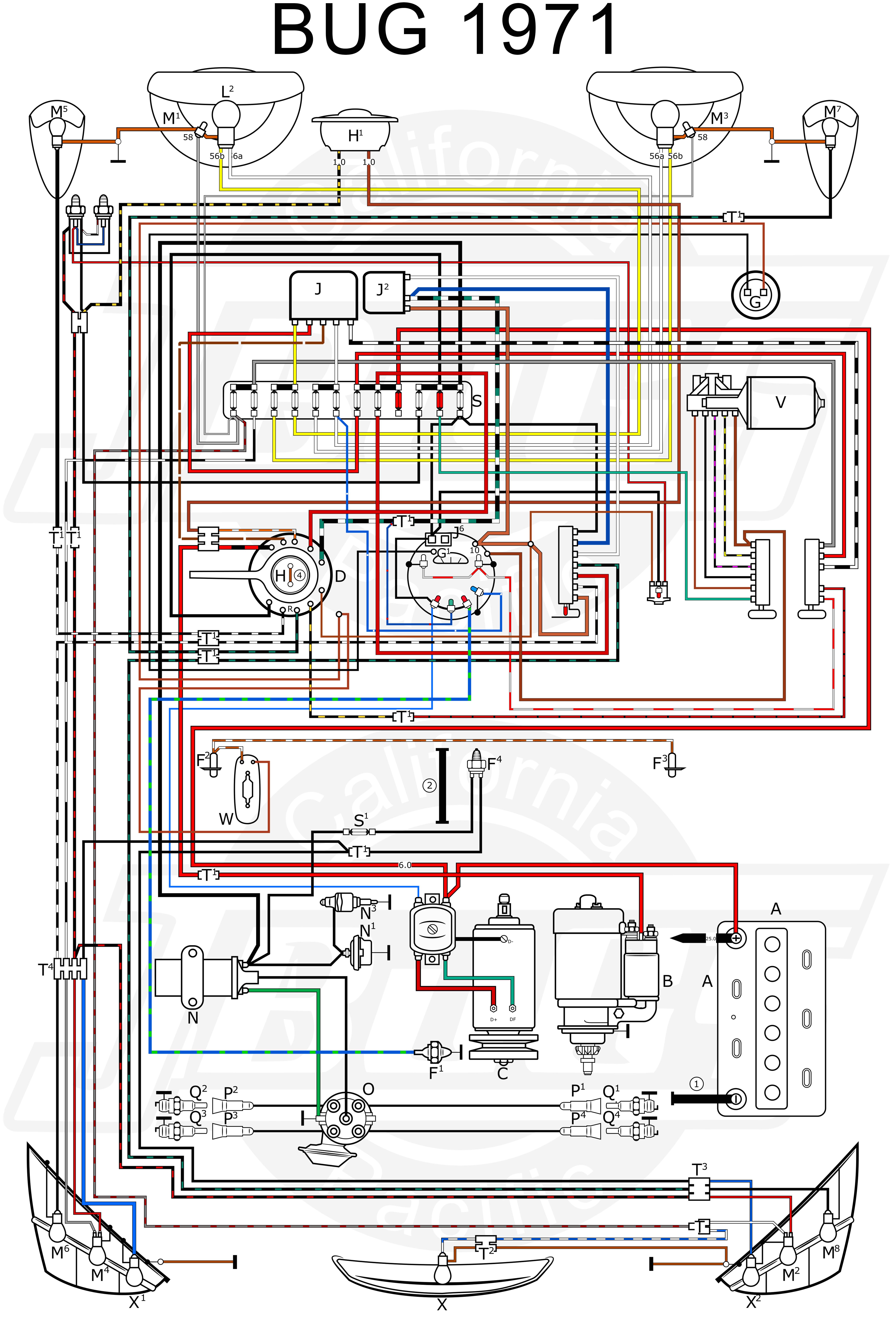 1971 Vw Beetle Wiring Diagram 1971 Vw Super Beetle Fuse Diagram Wiring Diagram Files