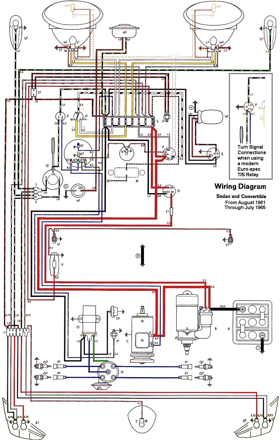 thesamba com type 1 wiring diagrams 1973 vw bus wiring diagram 1973 vw wiring diagram