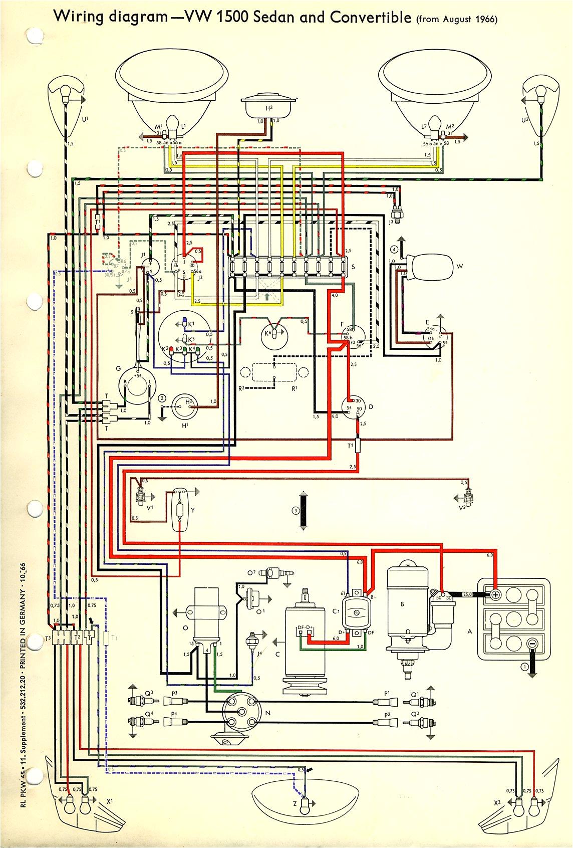 thesamba com type 1 wiring diagrams 1974 beetle fuse box