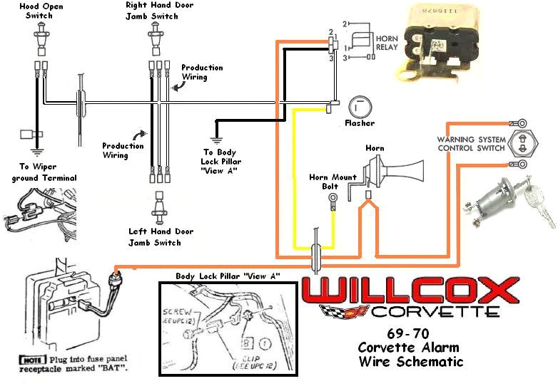 19691970 corvette corvette wire schematic alarm system willcox 1972 corvette wiring diagram alarm wiring diagram operations