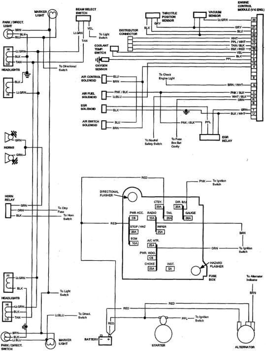 85 chevy truck wiring diagram chevrolet truck v8 1981 1987 gmc truck trailer wiring diagram 85