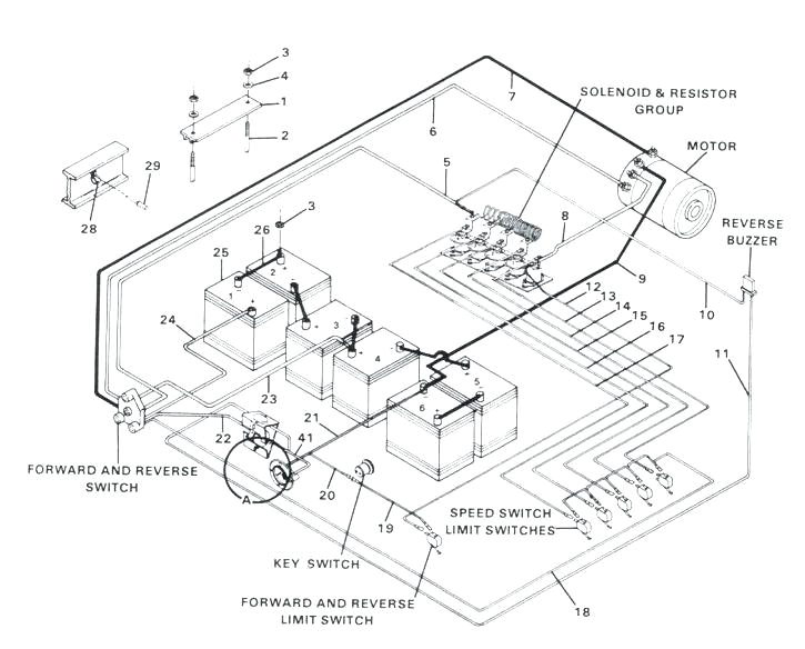 club car 4 battery wiring diagram free picture wiring diagram pos 89 club car golf cart