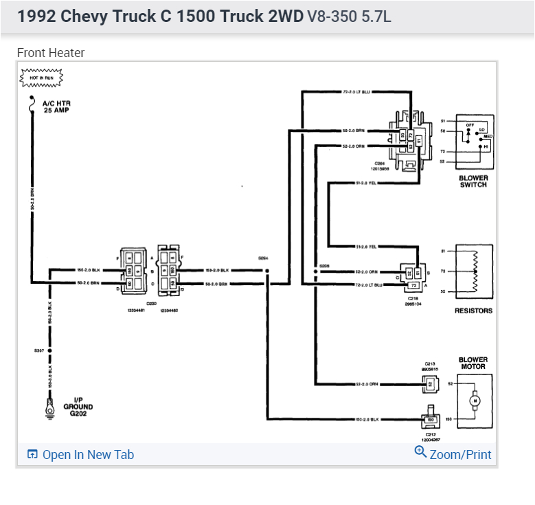 heater wiring does anyone have the wiring diagram for the ac 1992 chevy silverado starter wiring diagram 1992 chevy truck wiring diagram