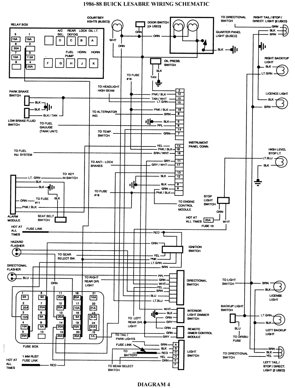 6 1986 88 buick lesabre wiring schematic