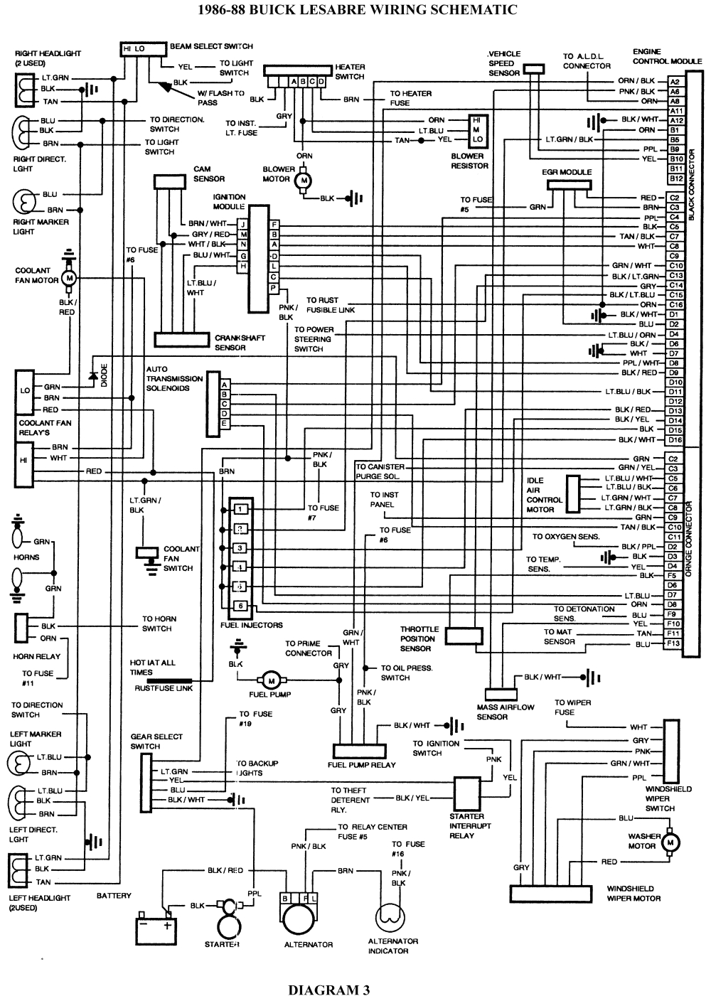 5 1986 88 buick lesabre wiring schematic