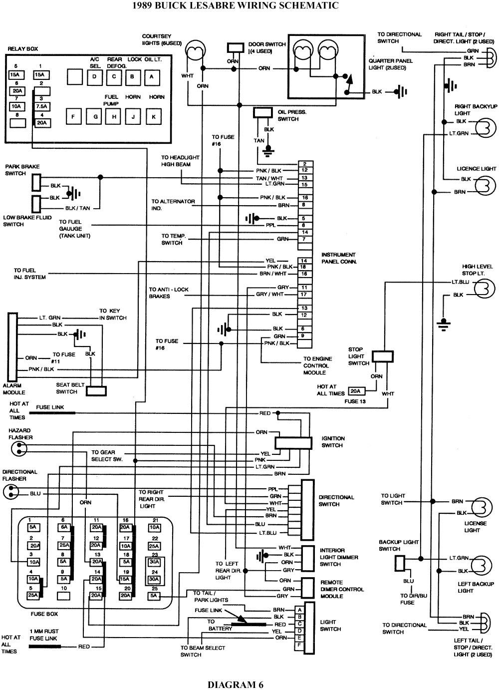 8 1989 buick lesabre wiring schematic